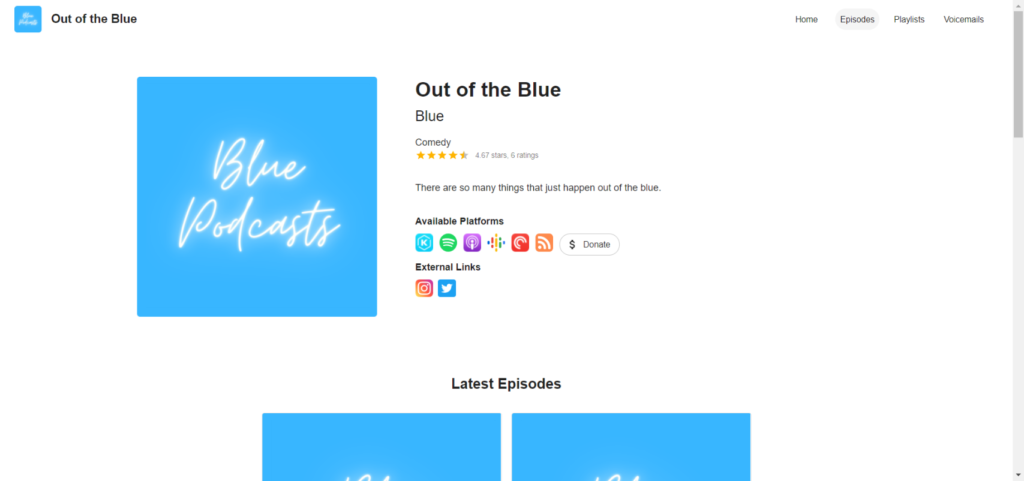 Automatic personal website for your podcast through Firstory